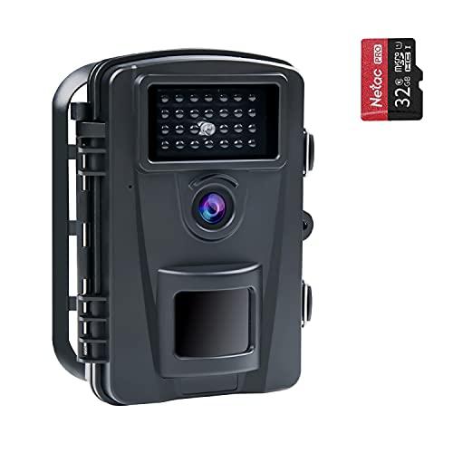 COOLIFE 16MP 1080P HD Wildkamera Fotofalle IP66 Wasserdicht...