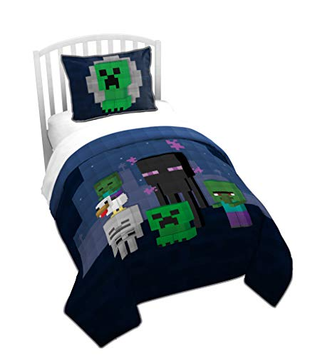 Jay Franco Minecraft Bad Night Bettwäsche-Set für Doppelbetten...