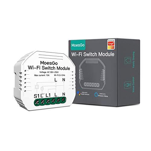 MoesGo Wlan RF433 Mini Smart Alexa Lichtschalter 1 Gang Relais...