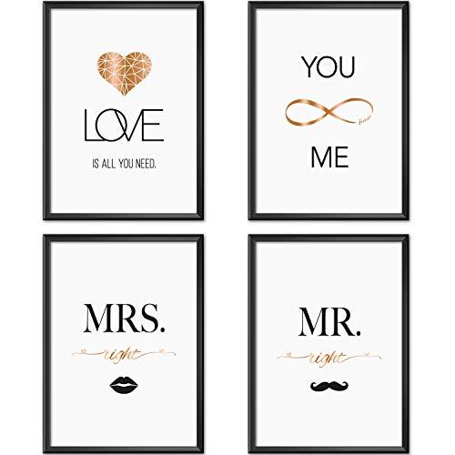 Mia Félice Poster-Set Collage DIN A4 True Love - schwarz-weiß...