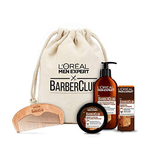 L'Oréal Men Expert Bartpflege Set mit Bartöl, Bartshampoo,...