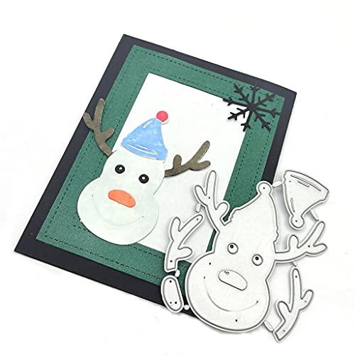 Christmas Elk Antlers Snowman Stanzmaschine Stanzschablone,...