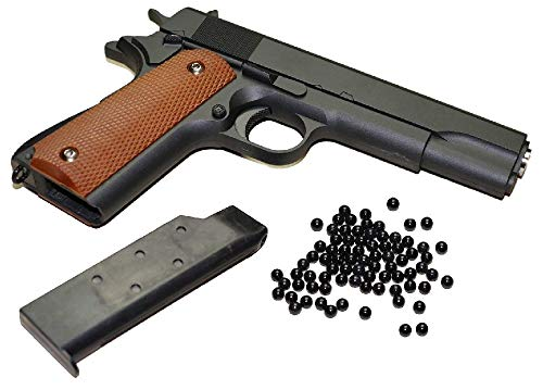 KOSxBO® Airsoft Pistole - Vollmetall Metallschlitten, schwarz...