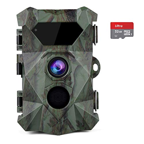 COOLIFE Wildkamera 2.7K 20MP Abzugsentfernung Bis 35m Wildkamera...