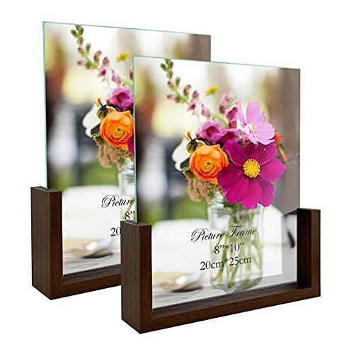 RLAVBL Doppelseitiger Bilderrahmen 20x25 cm aus Glas mit Einer...