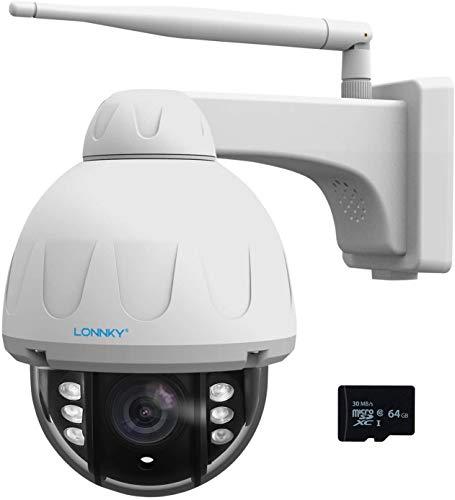 LONNKY 5MP Überwachungskamera PTZ Aussen WLAN IP Video Kamera 5X...