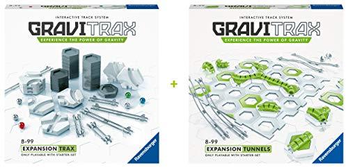 Ravensburger GraviTrax - Bundle aus den Erweiterungen Tunnel und Trax - Ideales Zubehör für...
