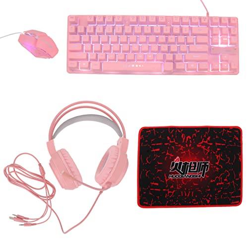Kabelgebundene Gaming- Tastatur- Headset- Maus: Mauspad- Gaming-...