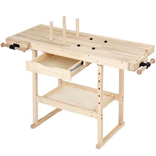 TIMBERTECH® Hobelbank - 127x57,5x82,5 cm, aus Holz mit...