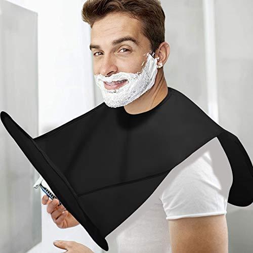 Allmay Innovative Bart Schürze für Rasur Bartschürze - Tragbar...