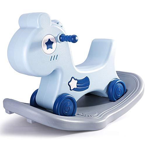 NXYJD Infant Shining 2-in-1-Schaukelpferdespielzeug 1-6 Jahre...
