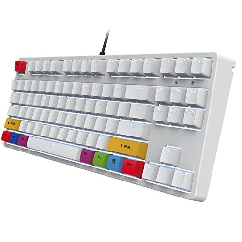 87 Tasten Mechanische Tastatur Gaming-Tastatur, Beleuchtete...