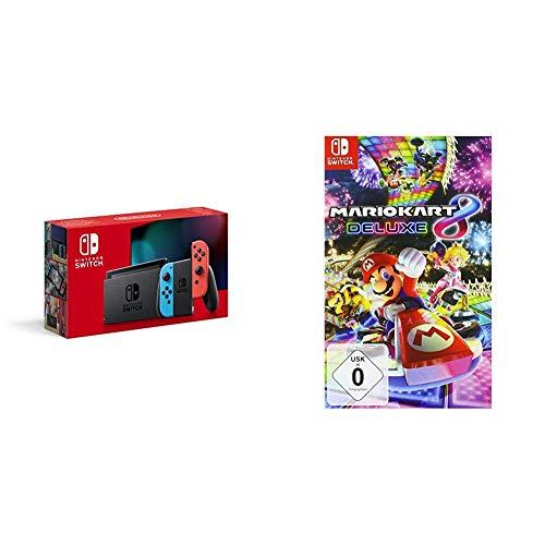 Nintendo Switch Konsole - Neon-Rot/Neon-Blau (neue Edition) +...