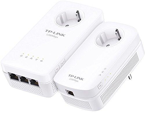 TP-Link Gigabit WLAN WiFi Powerline Adapter Set mit Steckdose...