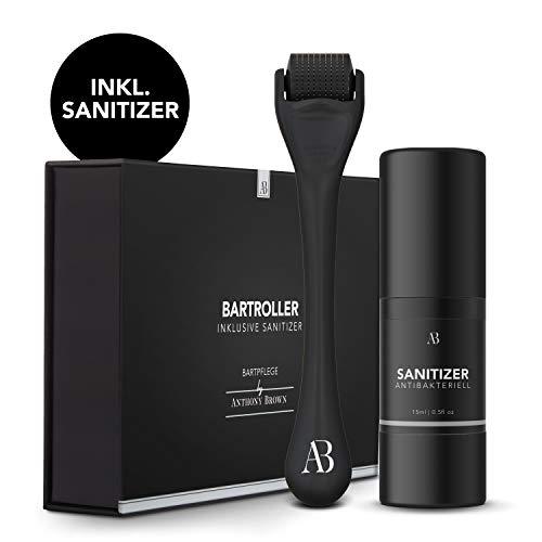 Anthony Brown® Bartroller 0.5mm für mehr Bartwuchs - mit...