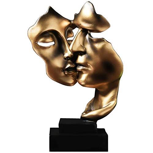 Uziqueif Skulptur Deko Stille Ist Eine Golden Abstrakte Kunst...