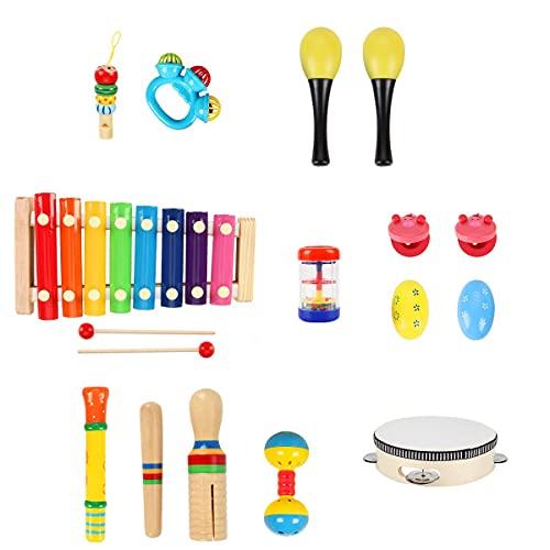 BlueFire Baby Musikinstrumente, 20 Stück Schlagzeug Kinder Holz...