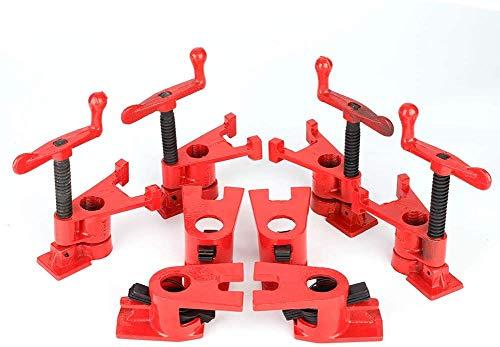 Cocoarm 4 Sets Rohr Schraubzwinge Schraubzwingen Rohrzwingen Rohr Schnellspanner Clamp...