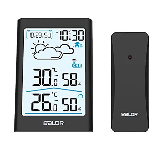 TEKFUN Wetterstation Funk mit Außensensor, Digital Thermometer...