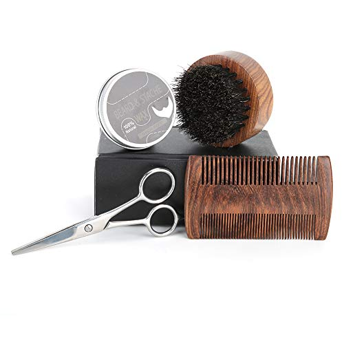 Geeignete Männer Bartpflege Set, Stahlherstellung Bartform Hand...