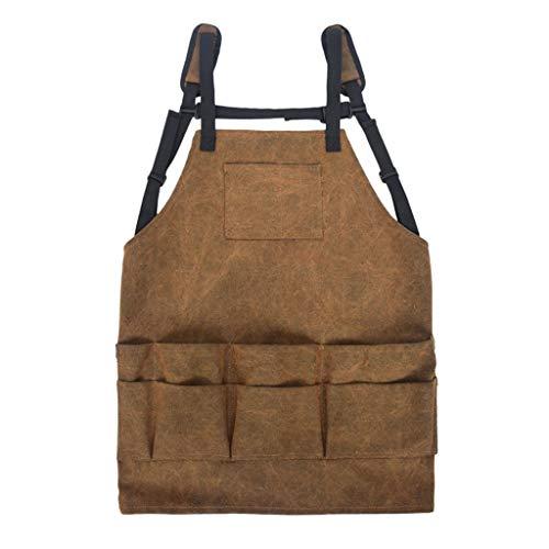 Strapazierfähige Grillschürze aus Segeltuch mit Taschen für...