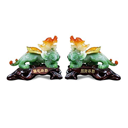 Zhuzhu Statuen PI XIU Ornamente EIN Paar Feng Shui Möbel...