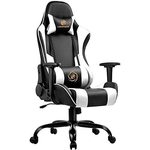 LUCKRACER Gaming Stuhl Bürostuhl Gamer Ergonomischer Stuhl die...