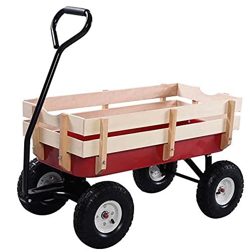 Azanaz Bollerwagen Outdoor Garten Strandwagen Handwagen 150kg...