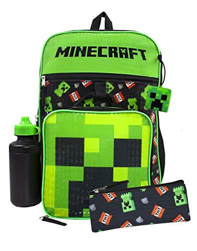 Minecraft Creeper 4-teiliges Rucksackset Lunchbox Federmäppchen...