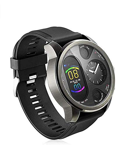 Dual Time Smartwatch Herren - Hybrid Smartwatch Herzfrequenz...