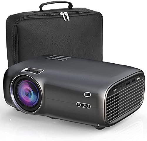 FUJSU Beamer, 6000 Lumen Mini Beamer Full HD,tragbare Heimkino...