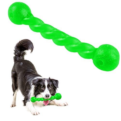 Qianyou Hundespielzeug für Zähne, Gummi Spirale Kauknochen...