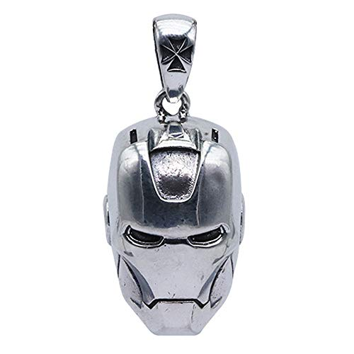 FORFOX Vintage 925 Sterling Silber Iron Man Helm Anhänger für...