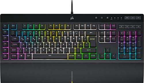 Corsair K55 RGB PRO XT Kabelgebundene Membran-Gaming-Tastatur...
