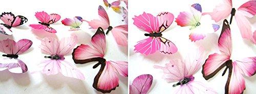 12pcs 3D Schmetterlinge Aufkleber Wandaufkleber Dekorationen...