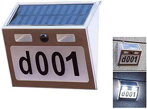 Hausnummer Lampe, LED Solar Wand Nummer Lampe Edelstahl...