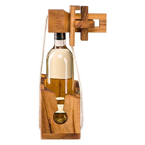 Flaschenpuzzle aus edlem Holz, Flaschentresor, Flaschensafe,...
