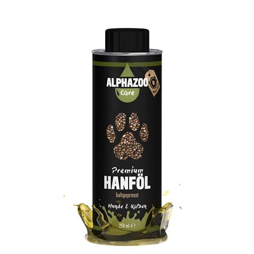 alphazoo Premium Hanföl für Hunde & Katzen | natürlich...