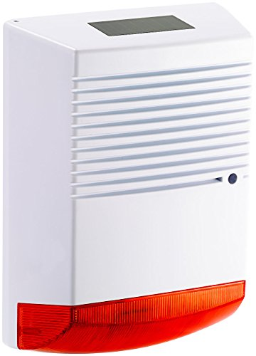 VisorTech Alarm Attrappe: Alarmsirenen Attrappe mit Solar & Blinklicht, IP44...