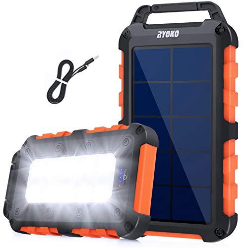Solarladegerät Solar Powerbank 20000mAh,Schnellladung...