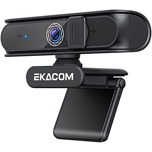 EKACOM Webcam mit Mikrofon, 1080P USB Webkamera für PC,...