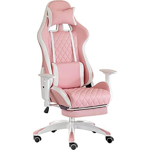YUYTIN Pink Gaming Stuhl Bürostuh Chefsessel Rgonomische...