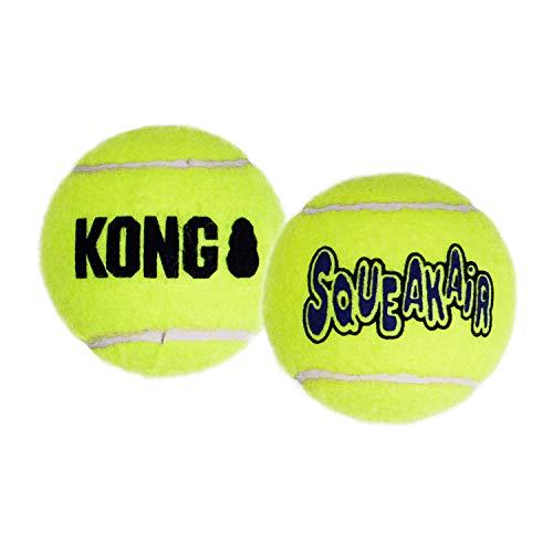 KONG – Squeakair Balls – Premium-Hundespielzeug, Quietschende...