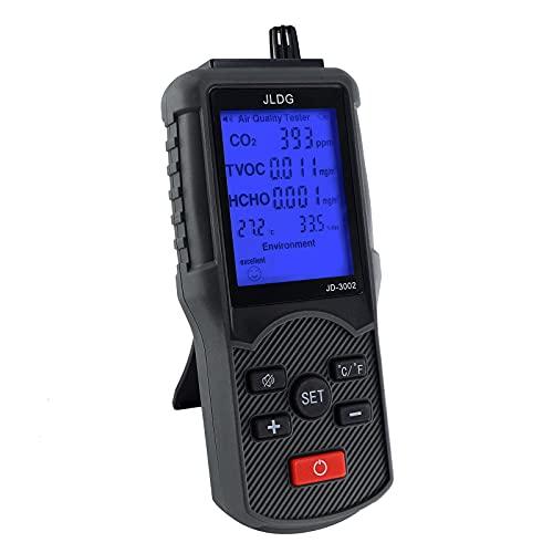 Luftqualität Tester Monitor Kohlendioxid Formaldehyd Detektor...