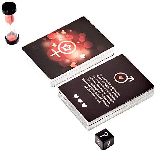 Creative Conceptions Spiel für Paare mit erotischen Aufgaben, enthält 1 Würfel, 1 Sanduhr,...