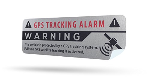 SECYOURITY - GPS Alarm Aufkleber Auto - Warnaufkleber für PKW &...