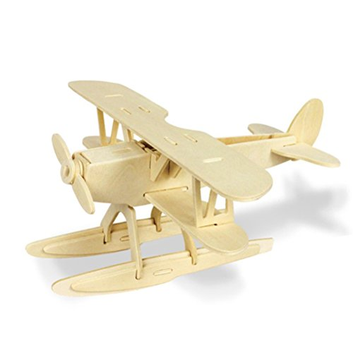 TOYMYTOY 3D Holzbausatz Holzpuzzle Kinder Modellbau Holz Bausatz zum Zusammenstecken...