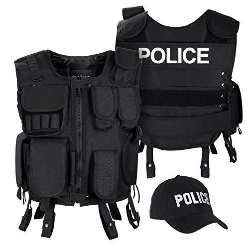 Black Snake SWAT FBI Security Police Agenten Kostüm Einsatzweste...