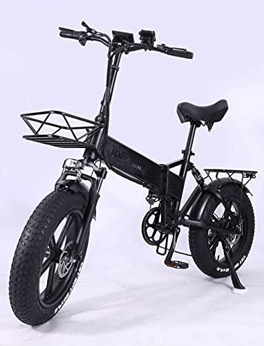 Klappbares E-Bike, 750 W Motor + 15Ah Versteckter Batterie...