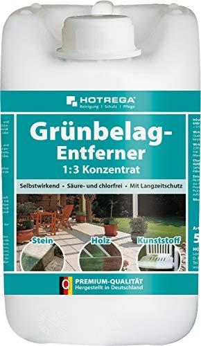 HOTREGA Grünbelag-Entferner 1:3 Konzentrat 5L - Algen, Grünspan...